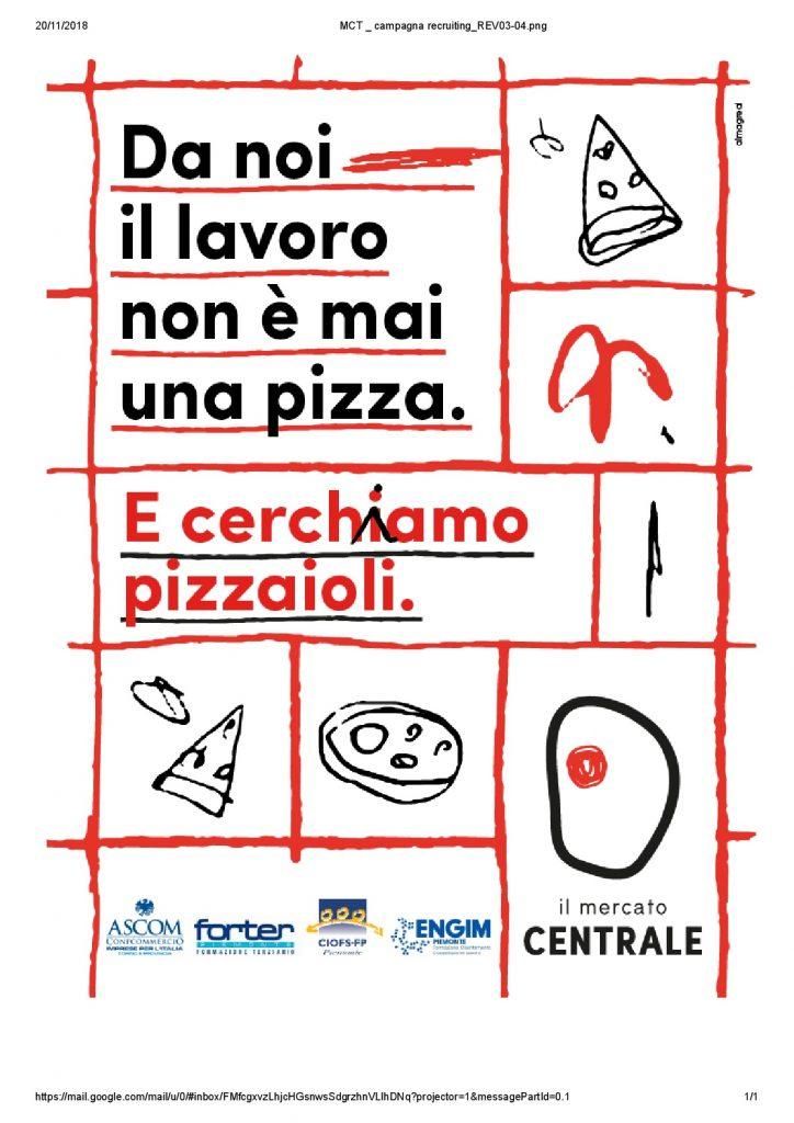 Annuncio di lavoro 79/18: Pizzaiolo – SELEZIONE CHIUSA