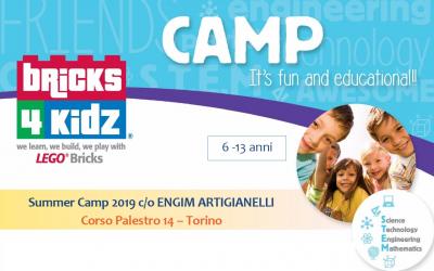 Campi estivi 2019 Engim Artigianelli & Bricks4kidz