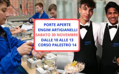 Ti aspettiamo Sabato 30 novembre al PRIMO OPEN DAY Engim Artigianelli!